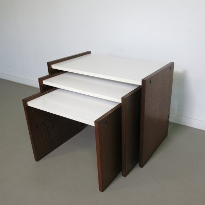 Wengé nesting tables with formica top, 1970's