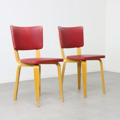 Pair of dining chairs by Cor Alons for C. den Boer, 1950s