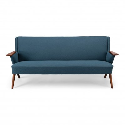 Danish Blue Sofa by Johannes Andersen for CFC Silkeborg, 1960s