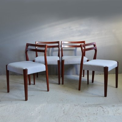 Set of 4 Scandinavian teak chairs, 1970s