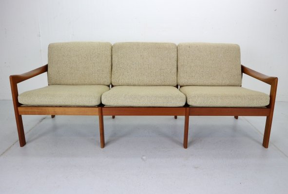 Three-Seat Teak Sofa by Illum Wikkelsø for Niels Eilersen, Denmark 1960
