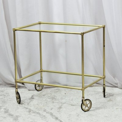 1960's Vintage Goldenrod Serving Bar Trolley