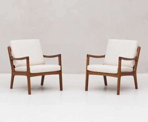 Pair of 'Model 166' easy chairs by Ole Wanscher for France & Son, Denmark
