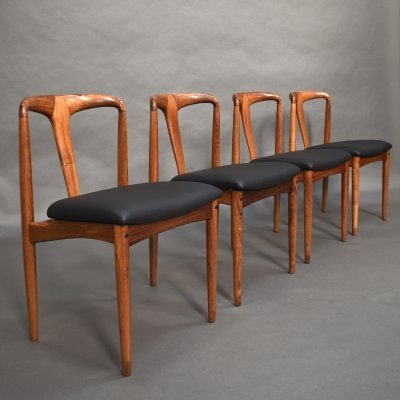 Set of 4 Johannes Andersen 'Juliane' chairs, Denmark 1960's