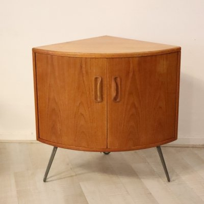 Half round G Plan cabinet with hairpin legs