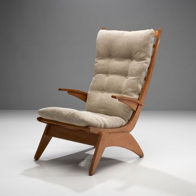 Dutch Modern Lounge Chair by Jan den Drijver for De Stijl The Hague, 1948