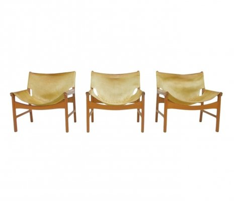 Illum Wikkelso Easy Chair Model 103 in Teak & Leather by Mikael Laursen Denmark