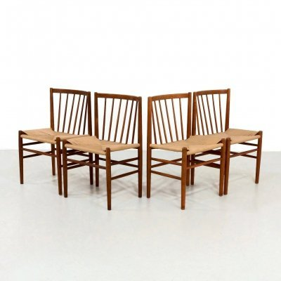 Set of 4 J80 dining chairs by Jørgen Baekmark for FDB Møbler, 1950s