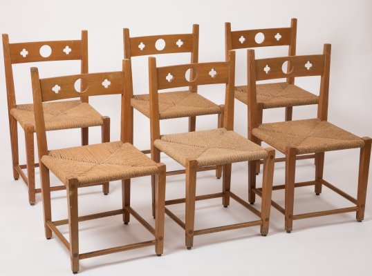 Set of 6 Axel Einar Hjorth dining chairs, 1920s