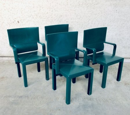 Set of 4 B&B Italia Arcadia Arcona Dining Arm Chairs by Paolo Piva, Italy 1980's
