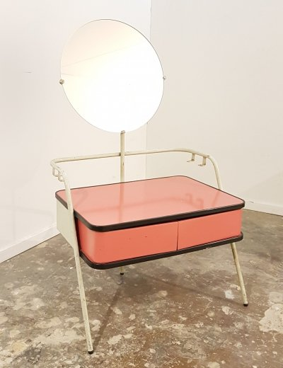 Vintage minimalist bauhaus vanity table or dresser by Auping, 1950s