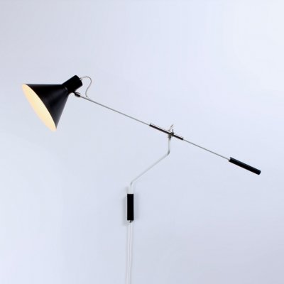 Balance 7056 wall lamp by J. Hoogervorst for Anvia Almelo, 1950s