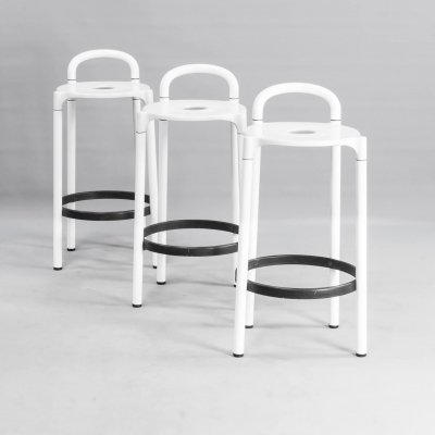 Set of 3 Anna Castelli Ferrieri 'polo' stools for Kartell, 1980s