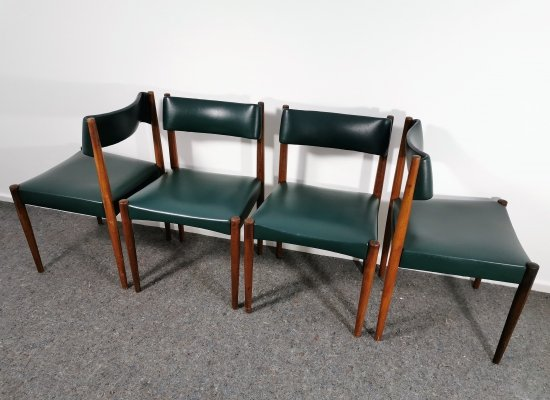Set of 4 Danish Rosewood Dining Chairs, 1960's