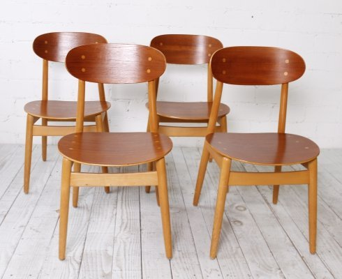 Set of 4 'Eva' Chairs by Sven Erik Fryklund for Hagafors, Sweden