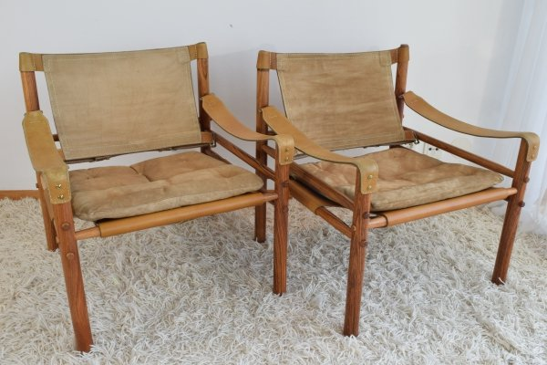 Pair of Arne Norell Rosewood 'Sirocco' easy chairs, 1960's