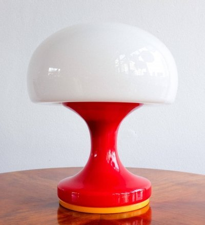 Opaline glass table lamp, 1960s