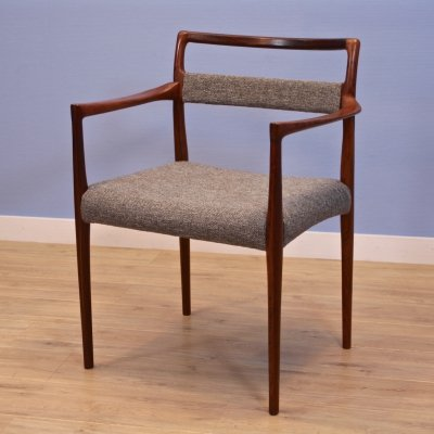 Danish chair in rosewood by Helge Vestergaard Jensen for Peder Pedersen, 1960s