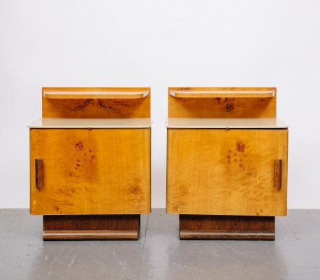 Pair of Walnut Night Stands, 1930's