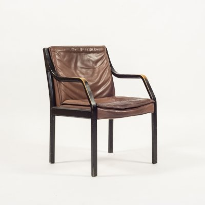 Walter Knoll vintage model Alpha chair in cognac leather from Art Collection