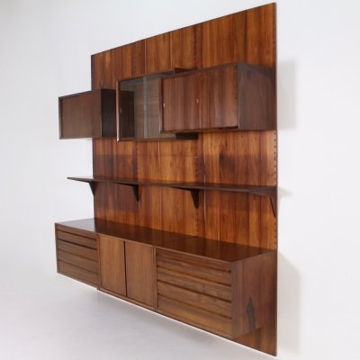 Rosewood Royal System wall unit by Poul Cadovius