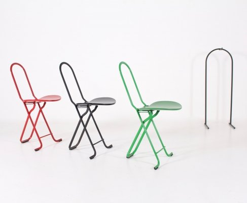 3 'Dafne' folding chairs by Gastone Rinaldi for Thema Italy