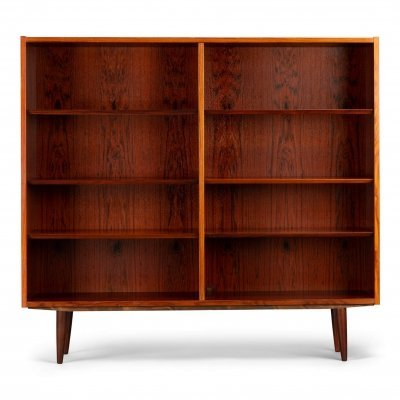 Danish midcentury rosewood bookcase by Hundevad & Co
