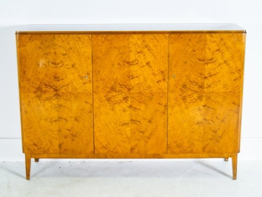 Swedish Blocked Walnut High Board, 1970's