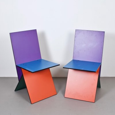 Two Vilbert Chairs by Danish Designer Verner Panton for IKEA, Sweden 1993