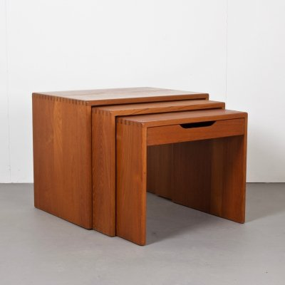 Danish Solid Teak Nesting Tables, 1970s