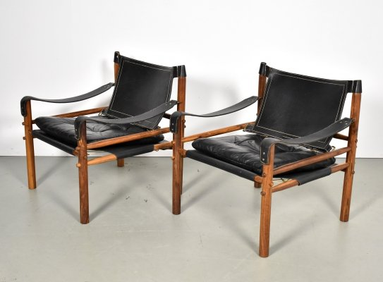 Pair of Sirocco lounge chairs by Arne Norell for Norell Möbel AB, 1960s