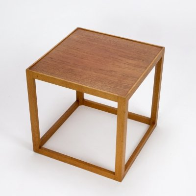 Kurt Østervig Cube Side Table by Børge Bak, Denmark 1950s