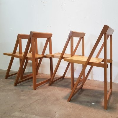 Set of 4 folding chairs by Aldo Jacober, 1960s