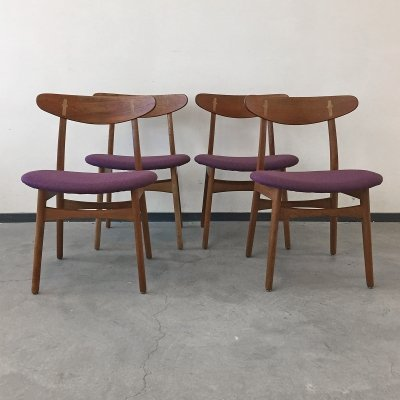 Set of 4 Hans Wegner model CH30 dining chairs by Carl Hansen & Son, Denmark 1950s