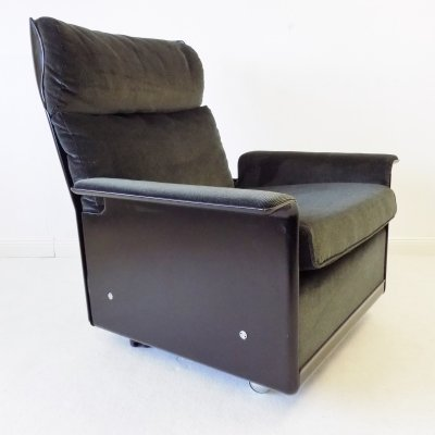 Vitsoe 620 grey/black Lounge Chair by Dieter Rams