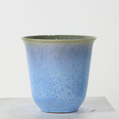 Cobalt blue earthenware vase for Zaalberg