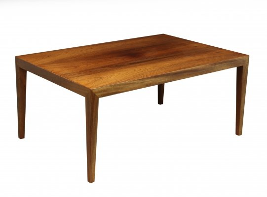 Mid Century Rosewood Coffee Table by Severen Hansen for Haslev, 1960's