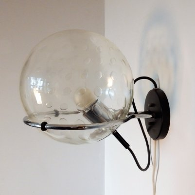 14 x C-1725 Basket-bol wall lamp with raindrop glass bowl by Raak, 1970s