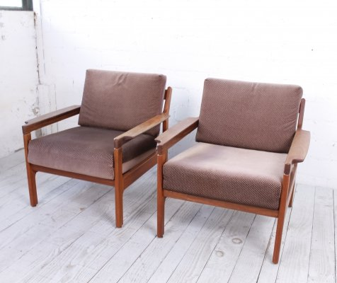 Set of Danish Teak Easy Chairs, 1960s