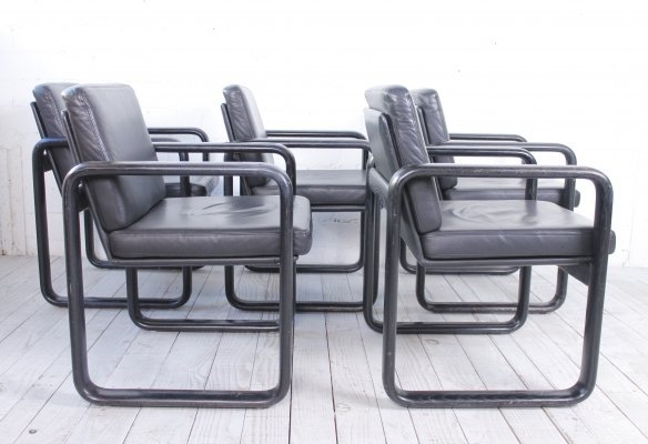 Set of 'Hombre' Chairs by Burkhard Vogtherr for Rosenthal Einrichtung