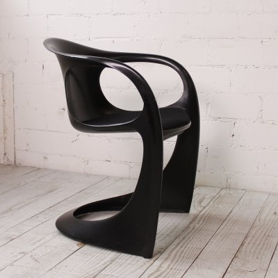 All Black 'Casalino' chair by Alexander Begge for Casala, 1970s