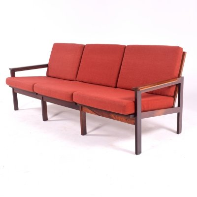 Rosewood Capella Three Seater Sofa by Illum Wikkelso for Niels Eilersen