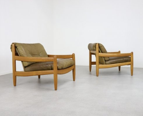Brazilian style lounge chairs by Carl Straub, 1970s