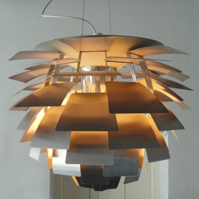 Early Brushed Steel PH Artichoke Pendant by Poul Henningsen for Louis Poulsen, 1970s