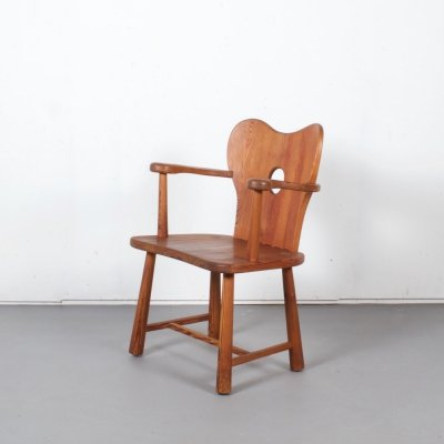 Swedish Pine Chair by Bo Fjaestad