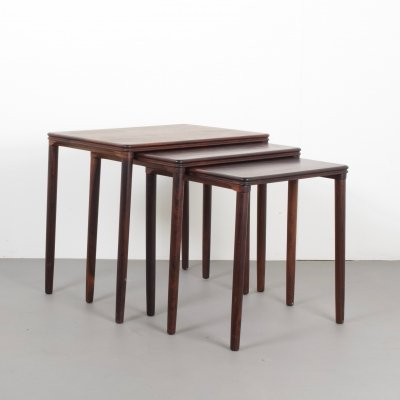 Set of Danish Rosewood Nesting Tables