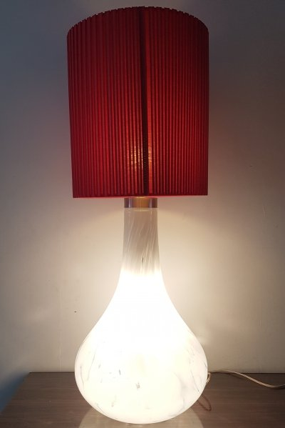Rare Murano mouthblown glass xlarge table lamp / floor lamp, 1970s