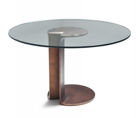 Afra & Tobia Scarpa bronze table TL59, 1975