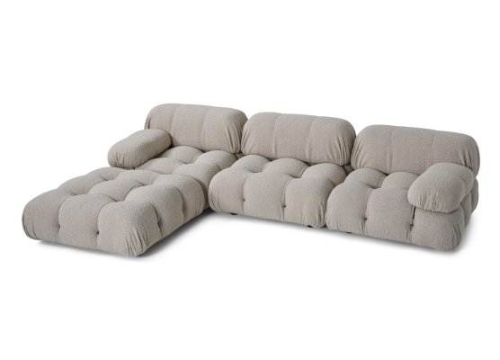 Camaleonda Modular Sofa in Grey Boucle by Mario Bellini, 1970s