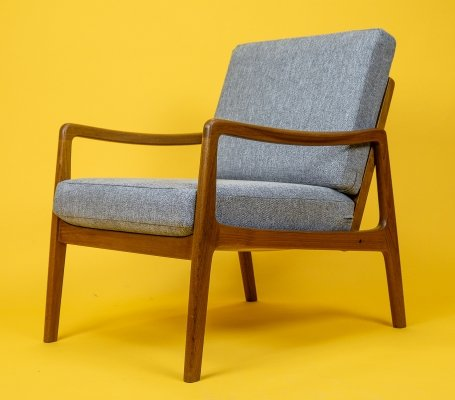 FD109 Lounge Chair in Teak by Ole Wanscher for France & Son, 1950s